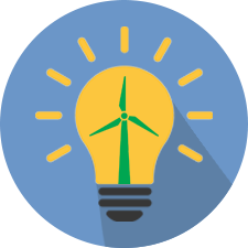 light bulb wind turbine icon