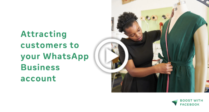 Attracting customers to your WhatsApp Business Account