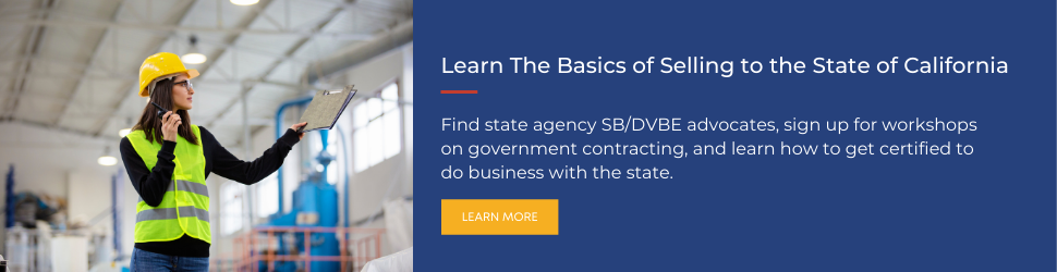 Learn the Basics of Selling to the Sate of California